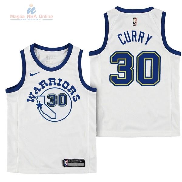 Acquista Maglia NBA Bambino Golden State Warriors  30 Stephen Curry Nike  Retro Bianco 2017- 1321164ef