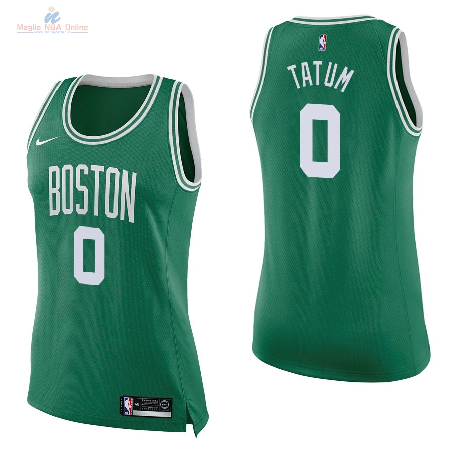 8259ae811be35 Acquista Maglia NBA Donna Boston Celtics  0 Jayson Tatum Verde Icon