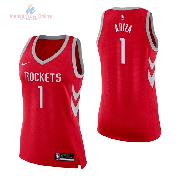 Acquista Maglia NBA Donna Houston Rockets #1 Trevor Ariza Rosso Icon