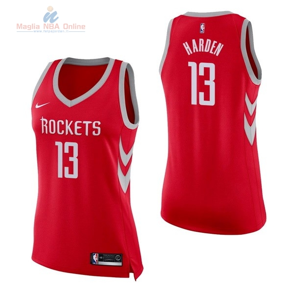 Acquista Maglia NBA Donna Houston Rockets #13 James Harden Rosso Icon