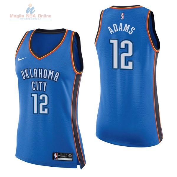 Acquista Maglia NBA Donna Oklahoma City Thunder #12 Steven Adams Blu Icon