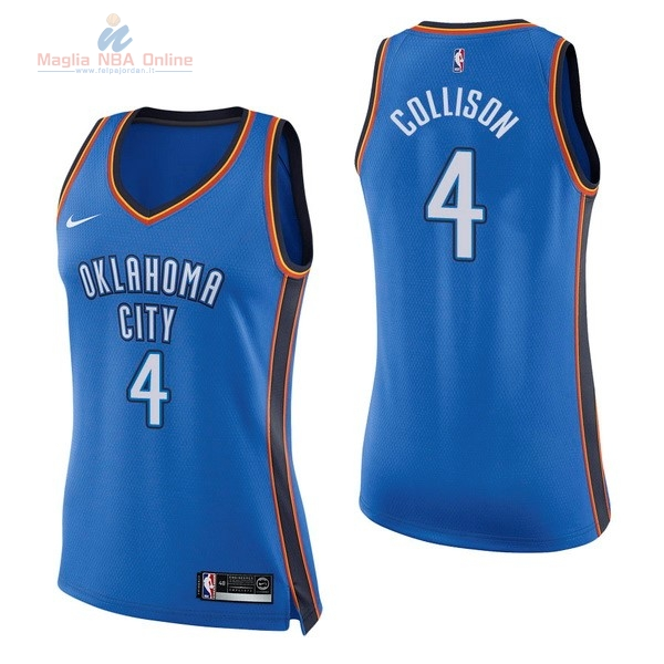 Acquista Maglia NBA Donna Oklahoma City Thunder #4 Nick Collison Blu Icon