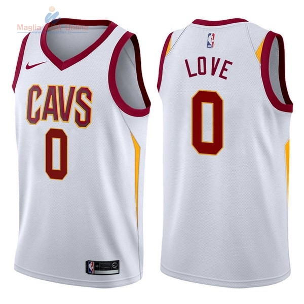 Acquista Maglia NBA Nike Cleveland Cavaliers #0 Kevin Love Bianco Association