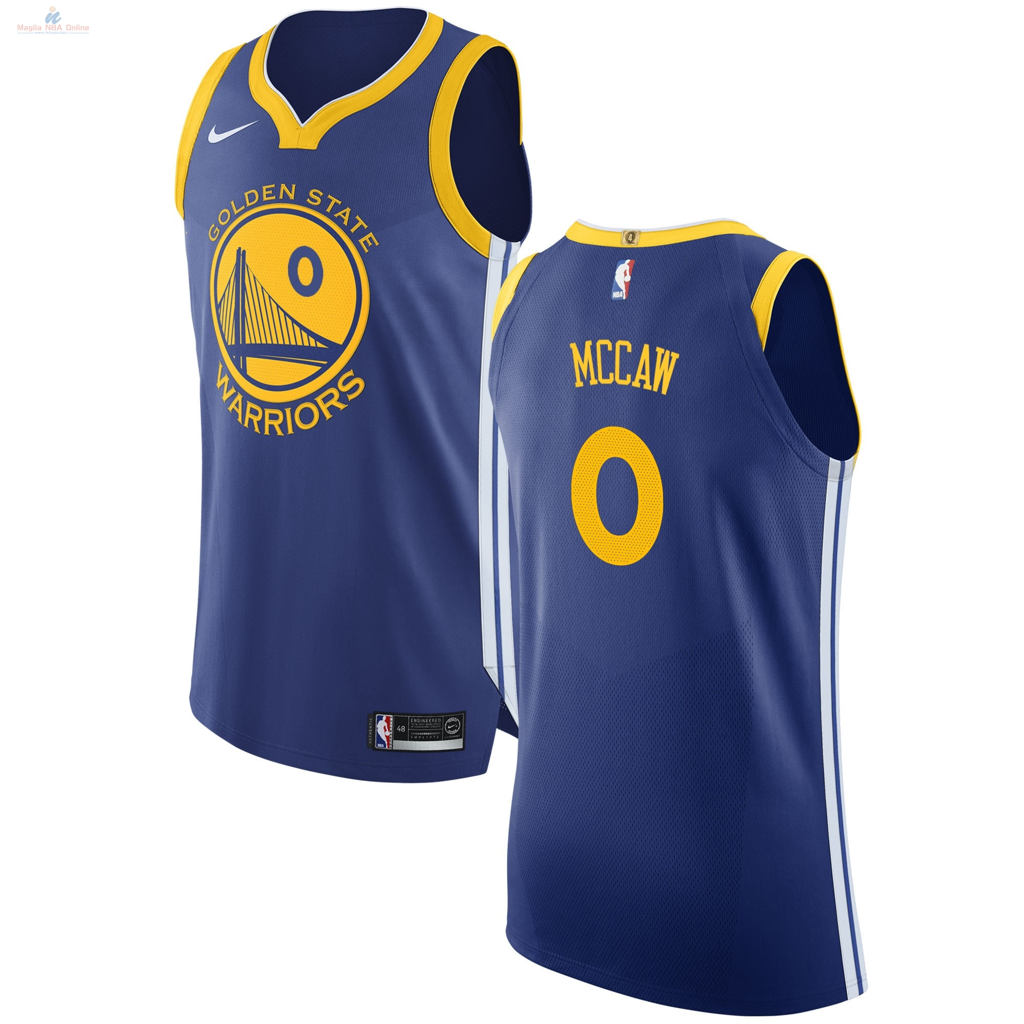 Acquista Maglia NBA Nike Golden State Warriors #0 Patrick McCaw Blu Icon
