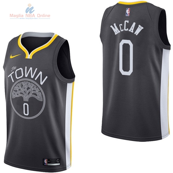 Acquista Maglia NBA Nike Golden State Warriors #0 Patrick McCaw Nero Statement