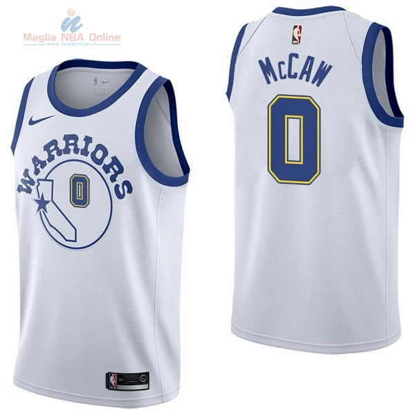 Acquista Maglia NBA Nike Golden State Warriors #0 Patrick McCaw Nike Retro Bianco