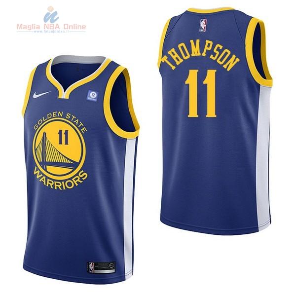Acquista Maglia NBA Nike Golden State Warriors  11 Klay Thompson Blu ... b213b598cf02