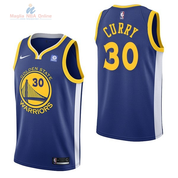 Acquista Maglia NBA Nike Golden State Warriors #30 Stephen Curry Blu