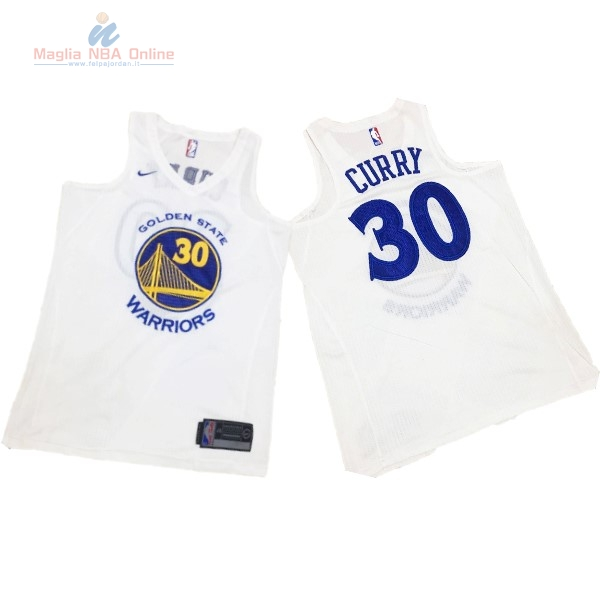 8d992f7d6b37d3 Acquista Maglia NBA Nike Golden State Warriors #30 Stephen Curry Tutto  Bianco