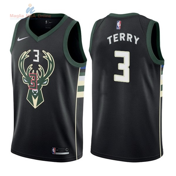 Acquista Maglia NBA Nike Milwaukee Bucks #3 Jason Terry Nero Statement