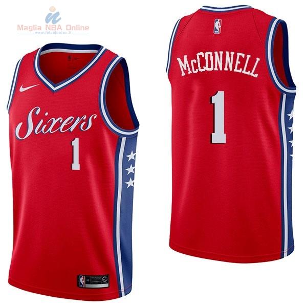 Acquista Maglia NBA Nike Philadelphia Sixers  1 T.J. McConnell Rosso  Statement 89ebc16c130c