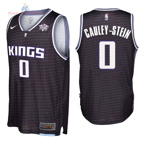 Acquista Maglia NBA Nike Sacramento Kings #0 Willie Cauley Stein Nero