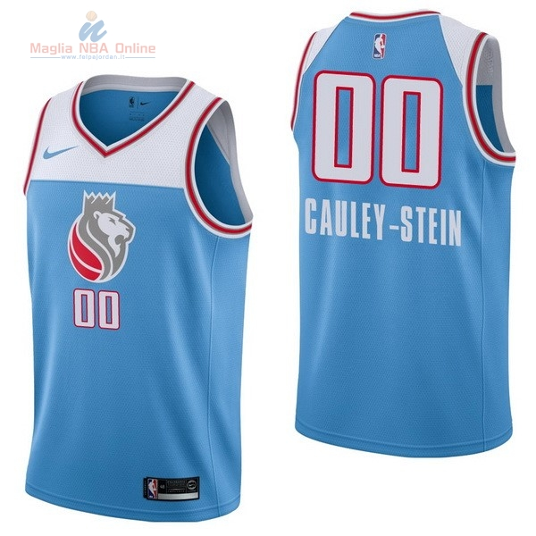 Acquista Maglia NBA Nike Sacramento Kings #0 Willie Cauley Stein Nike Blu Città