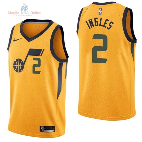 Acquista Maglia NBA Nike Utah Jazz #2 Joe Ingles Giallo Statement