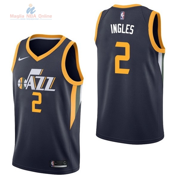 Acquista Maglia NBA Nike Utah Jazz #2 Joe Ingles Marino Icon