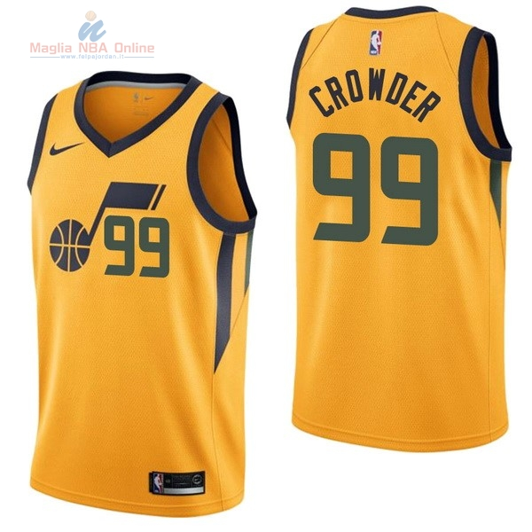 Acquista Maglia NBA Nike Utah Jazz #99 Jae Crowder Giallo Statement