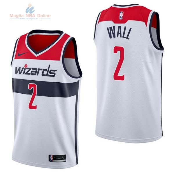Acquista Maglia NBA Nike Washington Wizards #2 John Wall Bianco Association