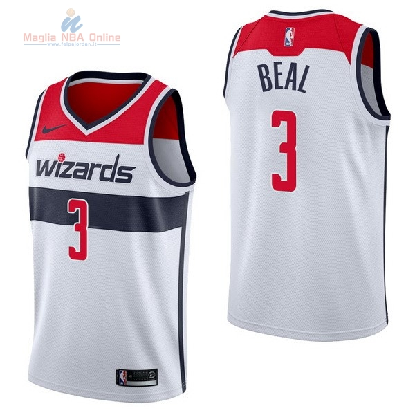 Acquista Maglia NBA Nike Washington Wizards #3 Bradley Beal Bianco Association