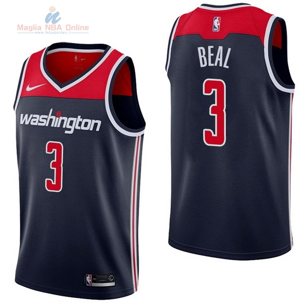 Acquista Maglia NBA Nike Washington Wizards #3 Bradley Beal Marino Statement
