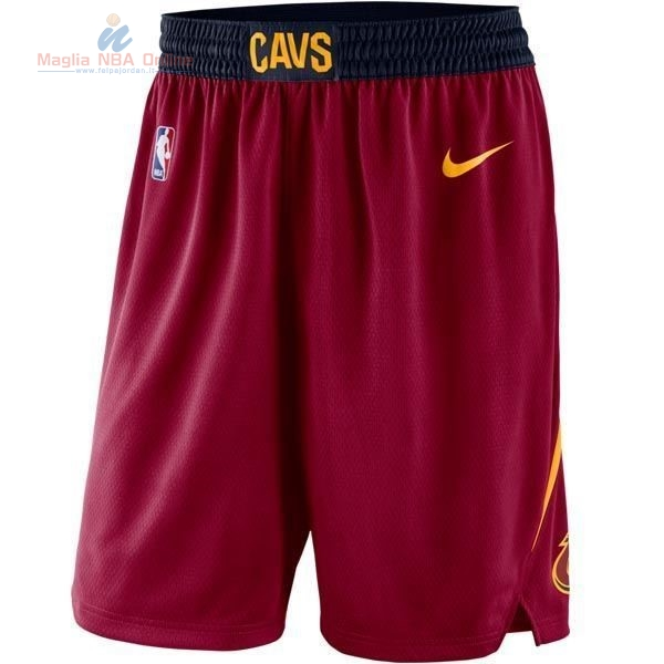 Acquista Pantaloni Basket Cleveland Cavaliers Nike Rosso