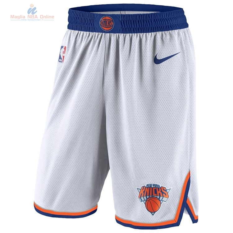 Acquista Pantaloni Basket New York Knicks Nike Bianco