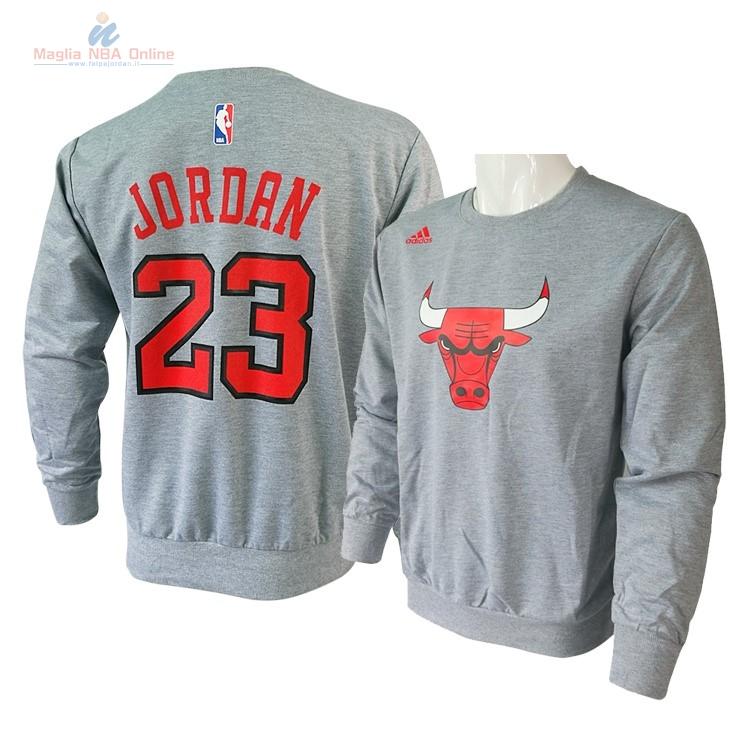 Acquista T-Shirt Chicago Bulls Maniche Lunghe  23 Michael Jordan Grigio 145c630d81c