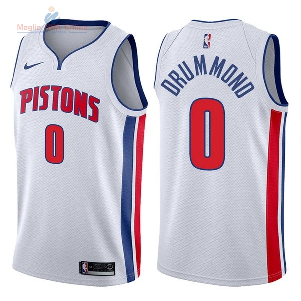 Acquista Maglia NBA Nike Detroit Pistons #0 Andre Drummond Bianco Association 2017-18