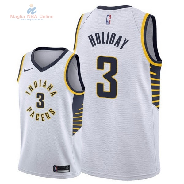 Acquista Maglia NBA Nike Indiana Pacers #3 Aaron Holiday Bianco Association 2018