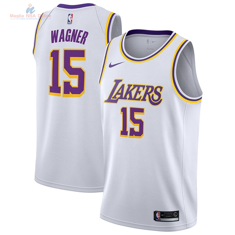 Acquista Maglia NBA Nike Los Angeles Lakers #15 Moritz Wagner Bianco Association 2018-19