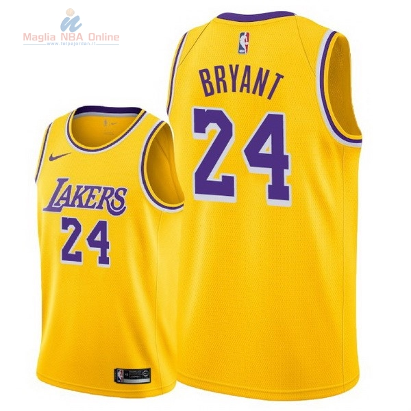 Acquista Maglia NBA Nike Los Angeles Lakers #24 Kobe Bryant Giallo Icon 2018-19