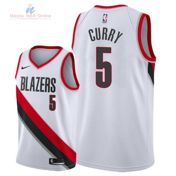 Acquista Maglia NBA Nike Portland Trail Blazers #5 Seth Curry Bianco Association 2018