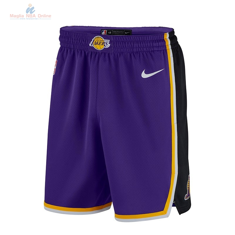 Acquista Pantaloni Basket Los Angeles Lakers Nike Porpora 2018-19