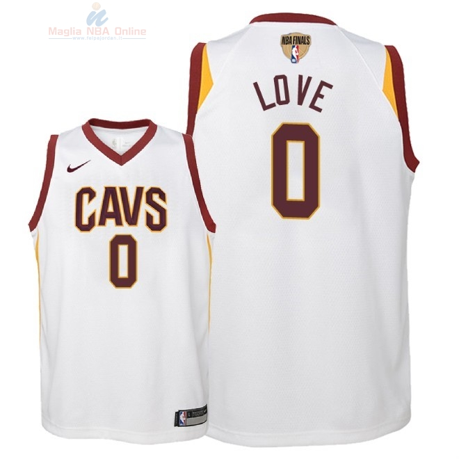 Acquista Maglia NBA Bambino Cleveland Cavaliers Finale Campioni 2018 #0 Kevin Love Bianco Association Patch