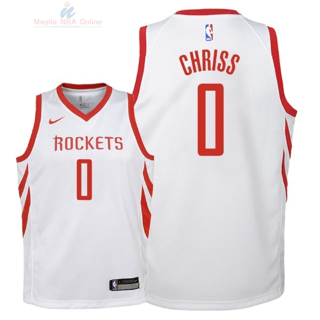 Acquista Maglia NBA Bambino Houston Rockets #0 Marquese Chriss Bianco Association 2018