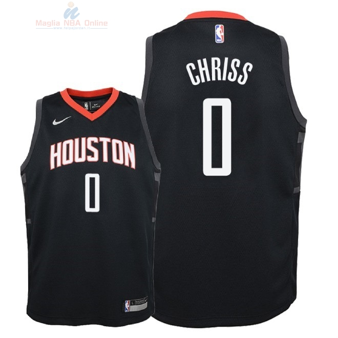 Acquista Maglia NBA Bambino Houston Rockets #0 Marquese Chriss Nero Statement 2018