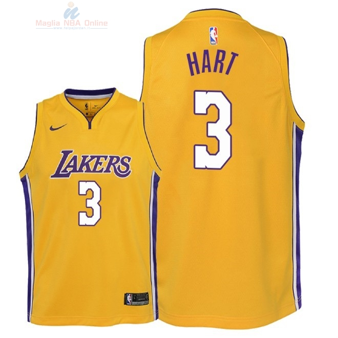 Acquista Maglia NBA Bambino L.A.Lakers  3 Josh Hart Giallo Icon 2018 e328ad4a5e01