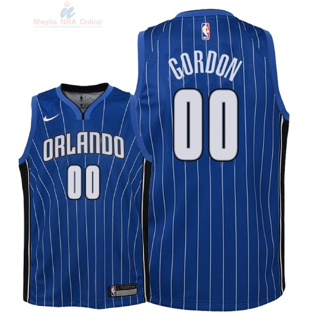 Acquista Maglia NBA Bambino Orlando Magic #0 Aaron Gordon Blu Icon 2018