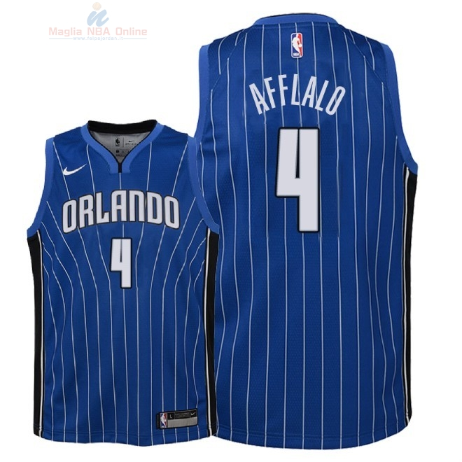 Acquista Maglia NBA Bambino Orlando Magic #4 Arron Afflalo Blu Icon 2018