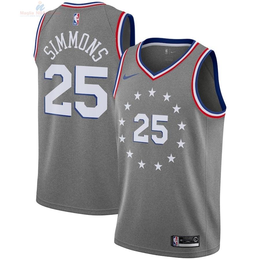 Acquista Maglia NBA Bambino Philadelphia Sixers  25 Ben Simmons Nike Grigio  Città 2018-19 9b41f68fe38c