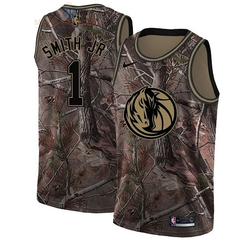Acquista Maglia NBA Dallas Mavericks #1 Dennis Smith Jr Camo Swingman Collezione Realtree 2018