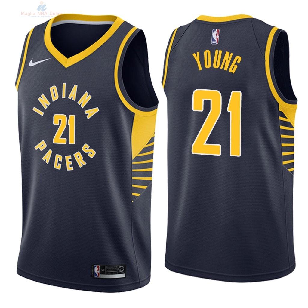 Acquista Maglia NBA Nike Indiana Pacers  21 Thaddeus Young Marino Icon 2018 a46196763830