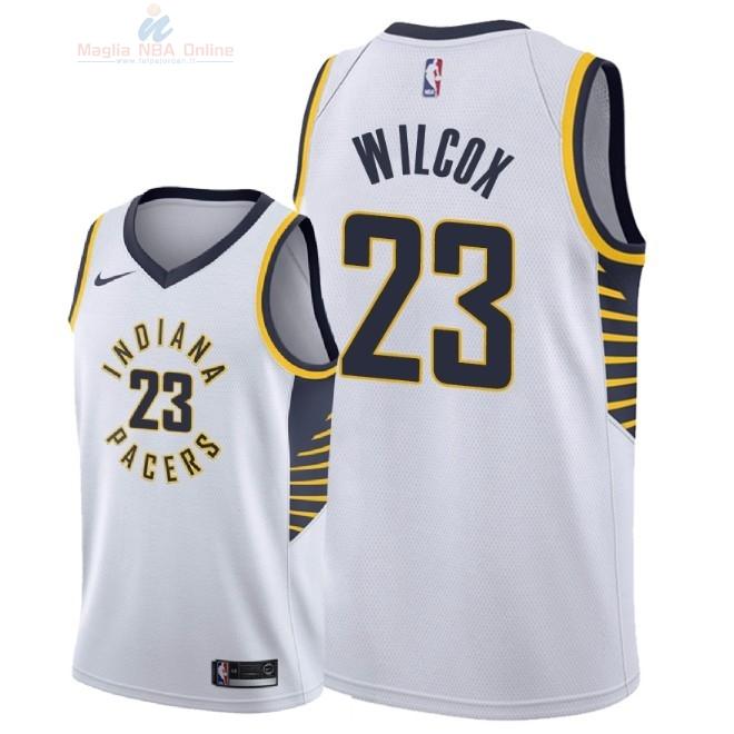 Acquista Maglia NBA Nike Indiana Pacers  23 C.J. Wilcox Bianco Association  2018-19 a2a0cbf75179