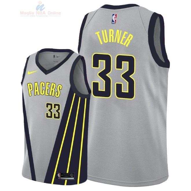 Acquista Maglia NBA Nike Indiana Pacers  33 Myles Turner Nike Grigio Città  2018-19 783b4793d791