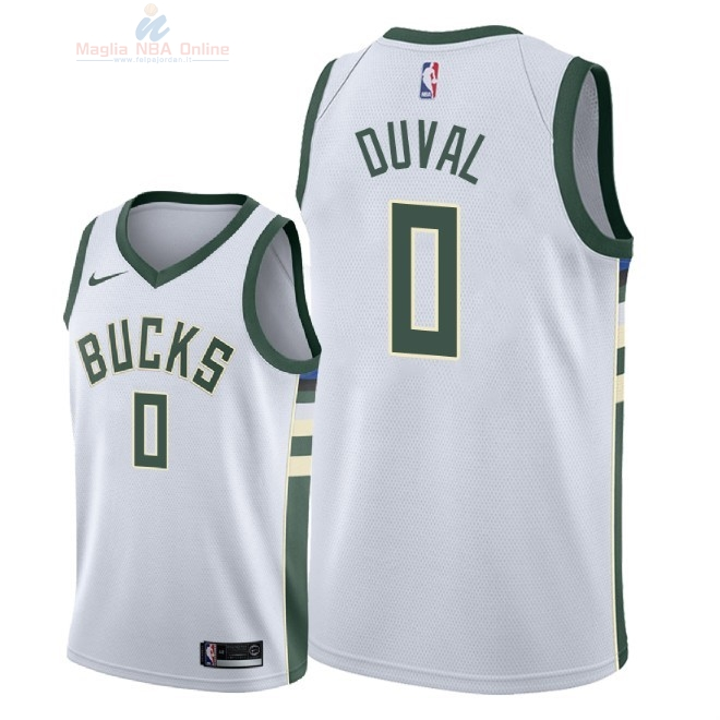 Acquista Maglia NBA Nike Milwaukee Bucks #0 Trevon Duval Bianco Association 2018