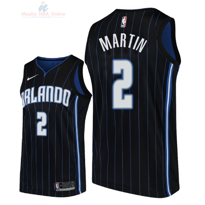 Acquista Maglia NBA Nike Orlando Magic #2 Jarell Martin Nero Statement 2018-19
