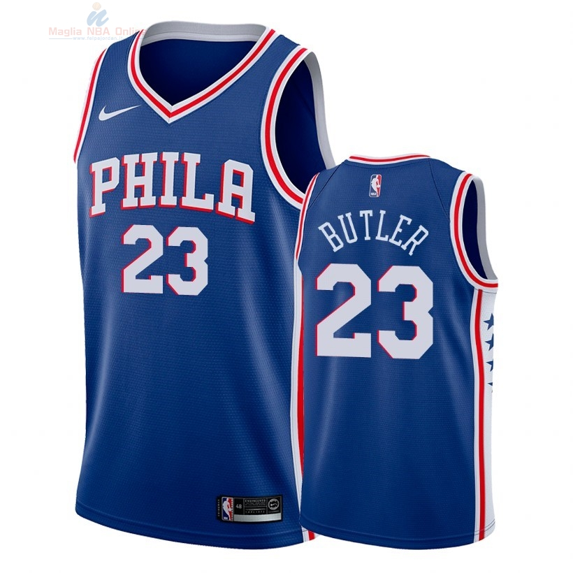 Acquista Maglia NBA Nike Philadelphia Sixers #23 Jimmy Butler Blu Icon 2018