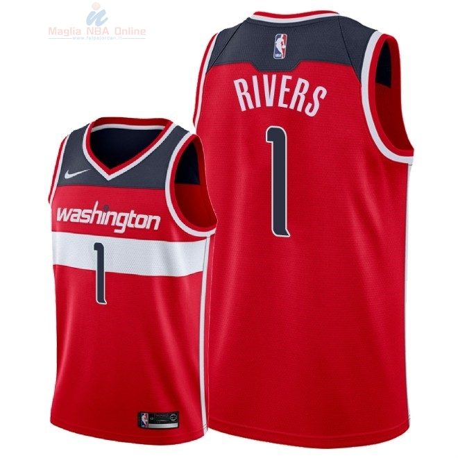 Acquista Maglia NBA Nike Washington Wizards #1 Austin Rivers Rosso Icon 2018