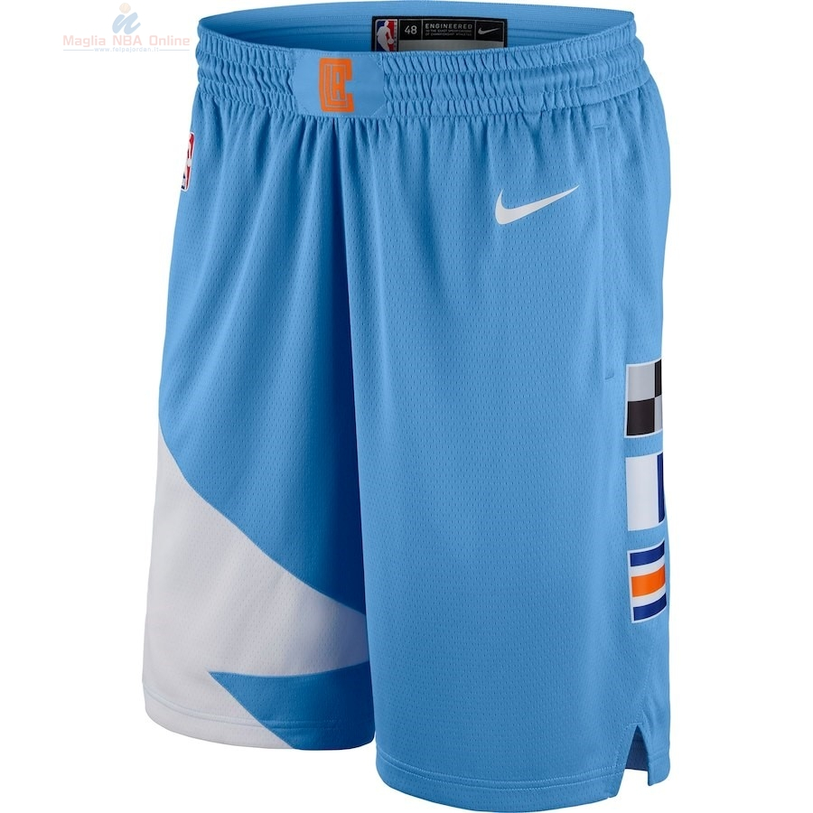 Acquista Pantaloni Basket Los Angeles Clippers Nike Blu Città 2018