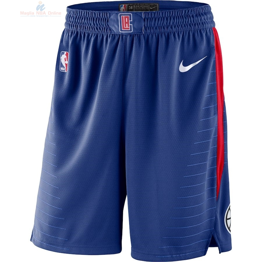 Acquista Pantaloni Basket Los Angeles Clippers Nike Reale Blu 2018