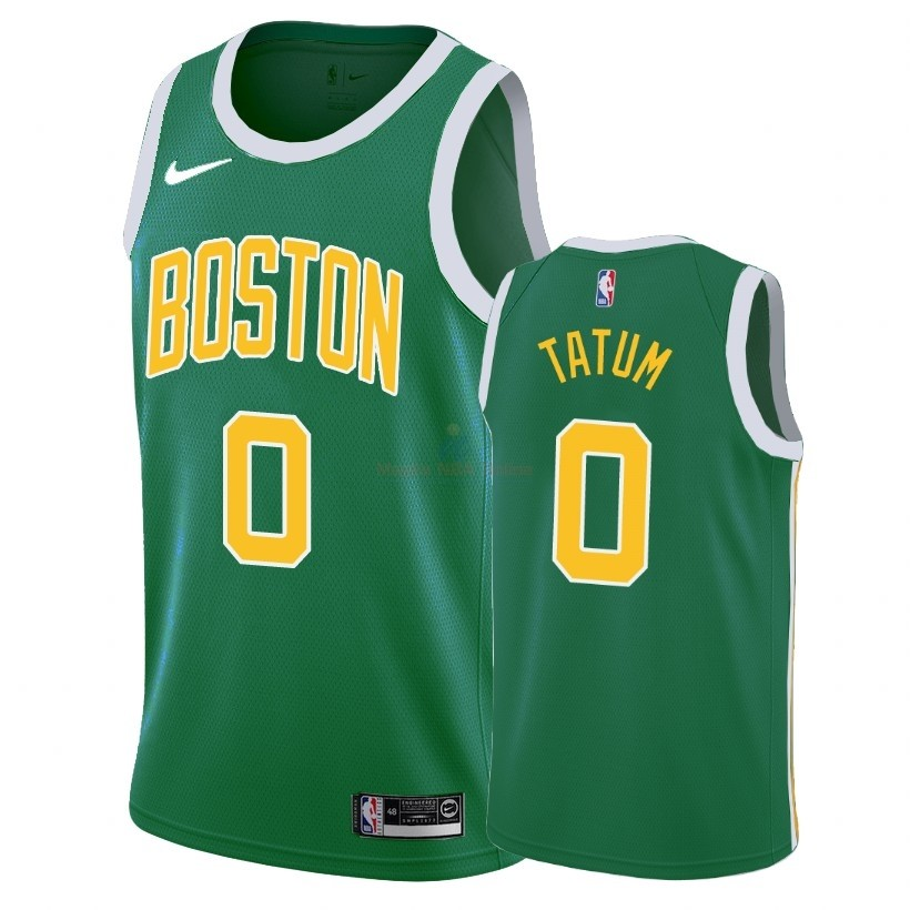 Acquista Maglia NBA Earned Edition Boston Celtics #0 Jayson Tatum Verde 2018-19